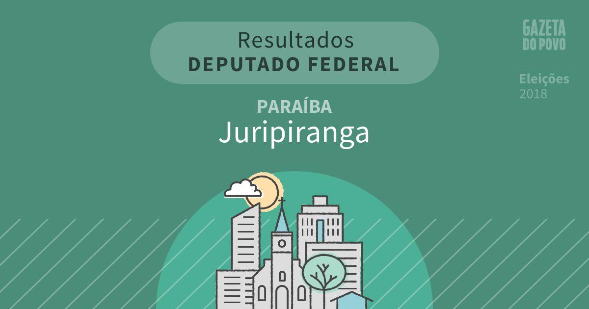 Resultados para Deputado Federal na Paraíba em Juripiranga (PB)
