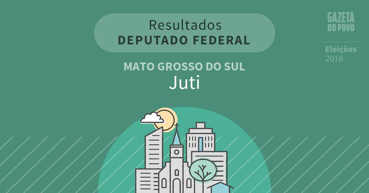 Resultados para Deputado Federal no Mato Grosso do Sul em Juti (MS)