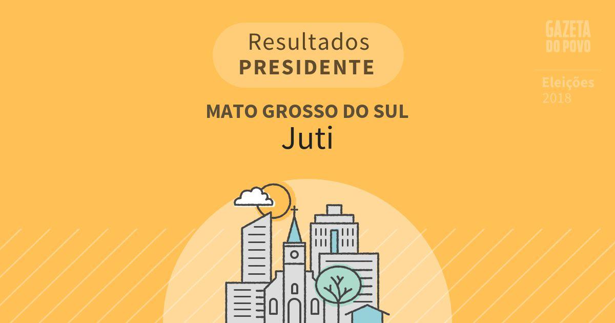 Resultados para Presidente no Mato Grosso do Sul em Juti (MS)