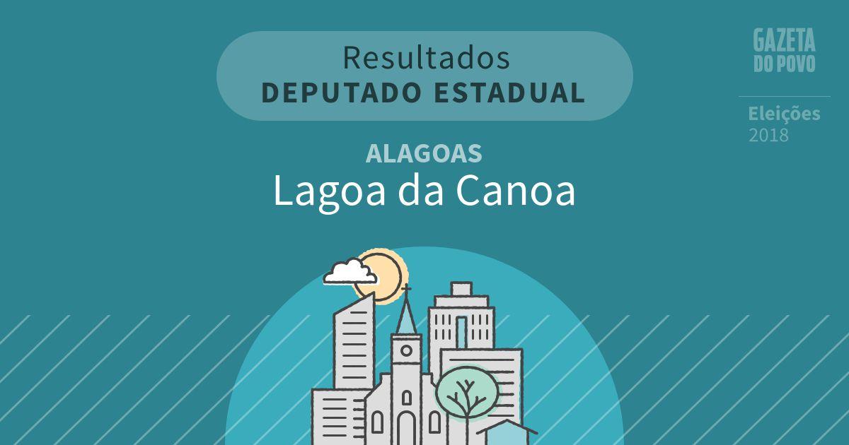 Resultados para Deputado Estadual em Alagoas em Lagoa da Canoa (AL)
