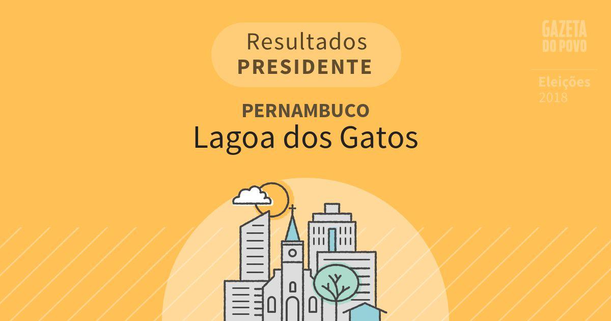 Resultados para Presidente em Pernambuco em Lagoa dos Gatos (PE)