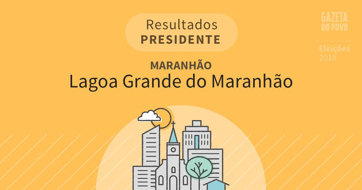 Resultados para Presidente no Maranhão em Lagoa Grande do Maranhão (MA)