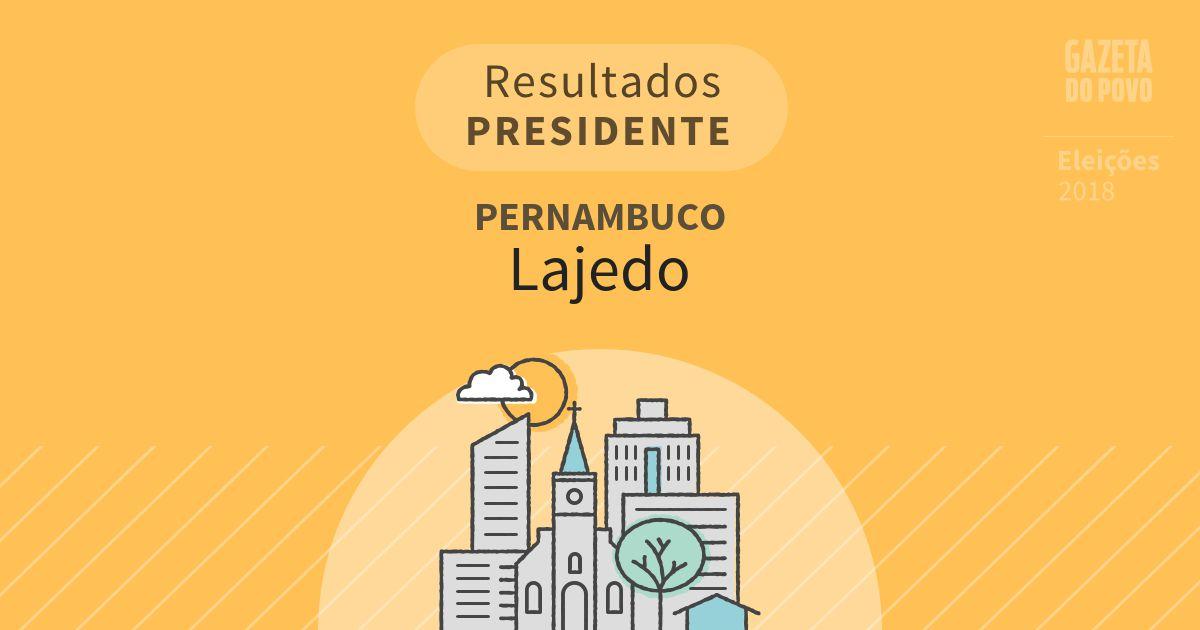 Resultados para Presidente em Pernambuco em Lajedo (PE)