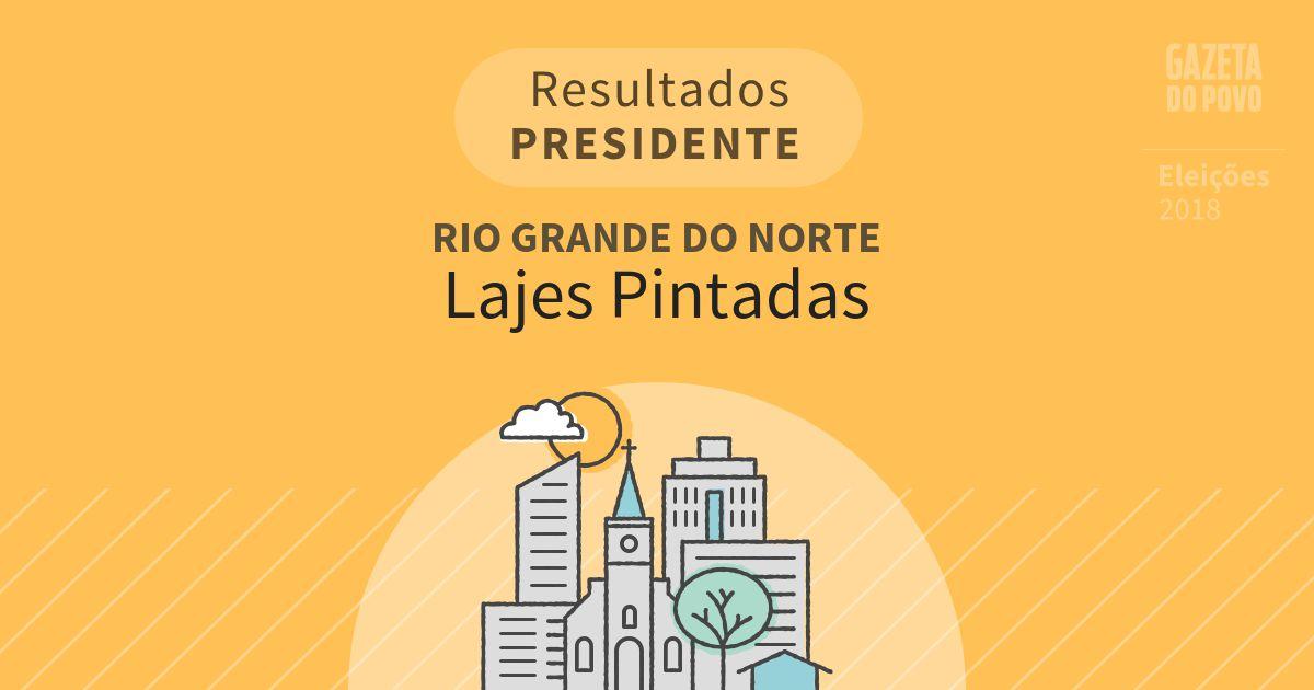 Resultados para Presidente no Rio Grande do Norte em Lajes Pintadas (RN)