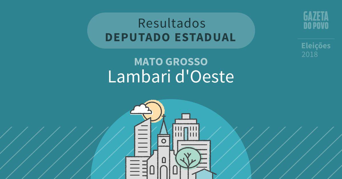 Resultados para Deputado Estadual no Mato Grosso em Lambari d'Oeste (MT)