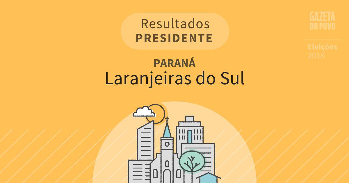 Resultados para Presidente no Paraná em Laranjeiras do Sul (PR)