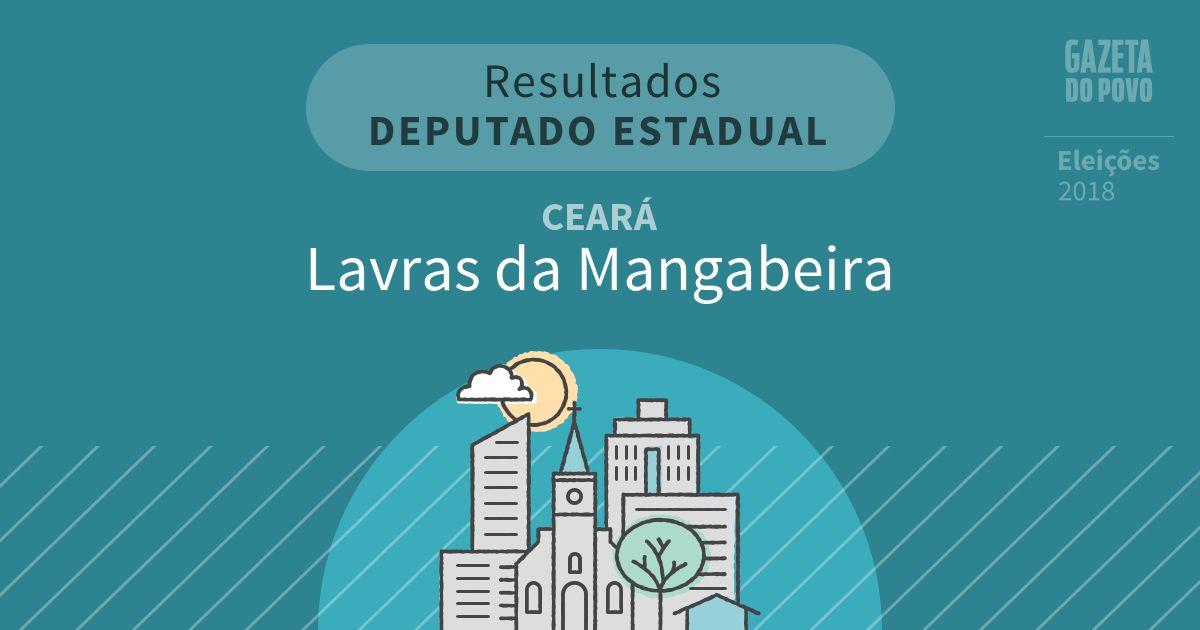 Resultados para Deputado Estadual no Ceará em Lavras da Mangabeira (CE)