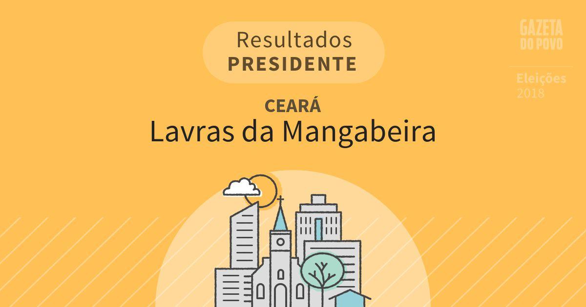 Resultados para Presidente no Ceará em Lavras da Mangabeira (CE)