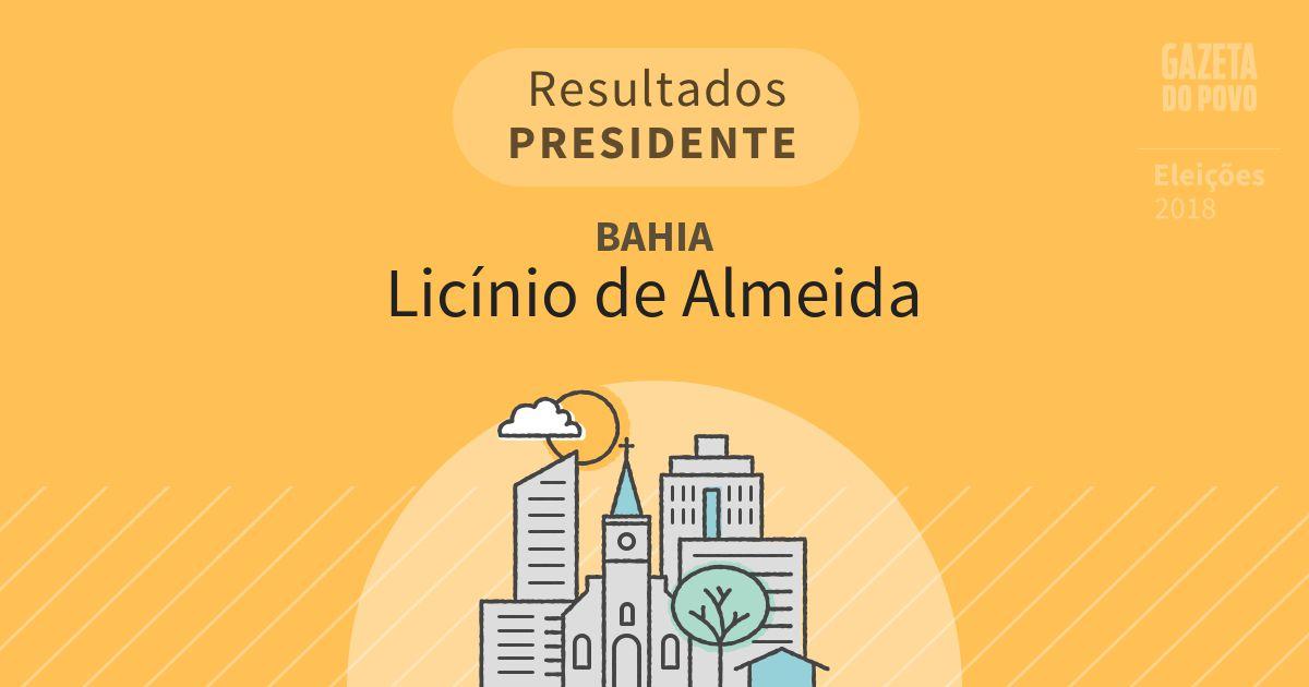Resultados para Presidente na Bahia em Licínio de Almeida (BA)