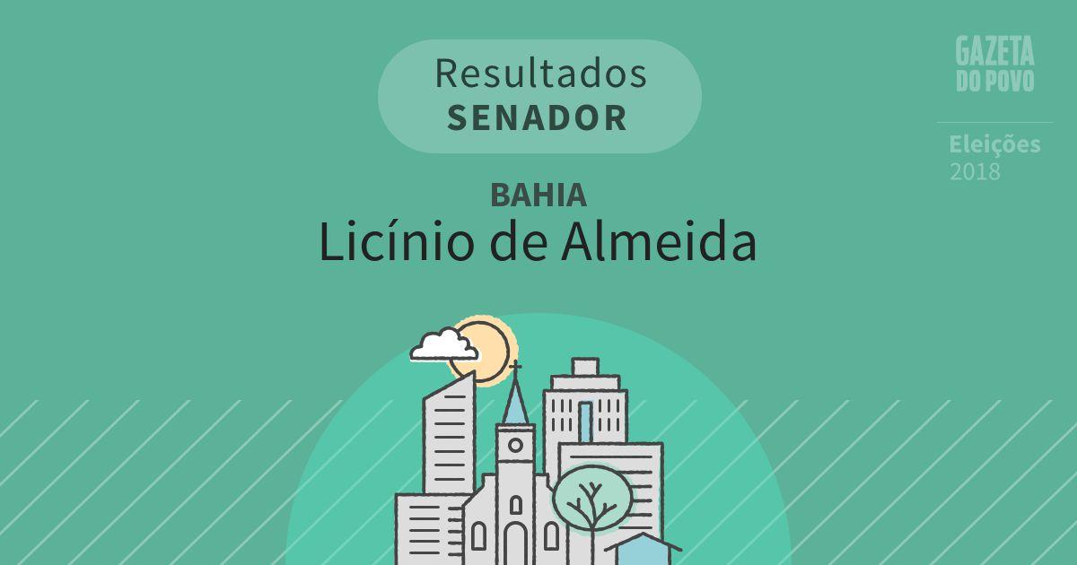 Resultados para Senador na Bahia em Licínio de Almeida (BA)