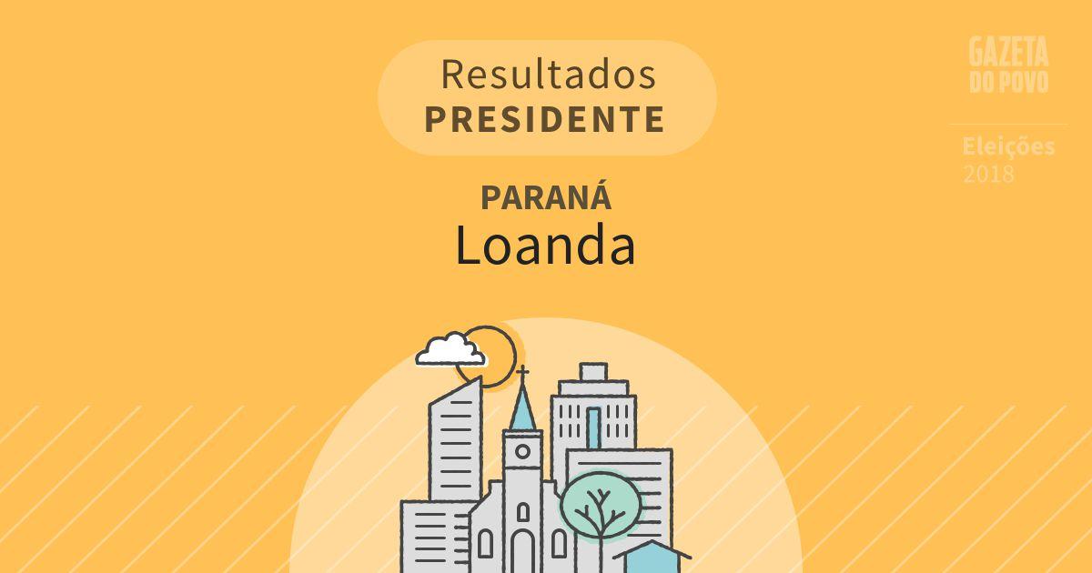 Resultados para Presidente no Paraná em Loanda (PR)