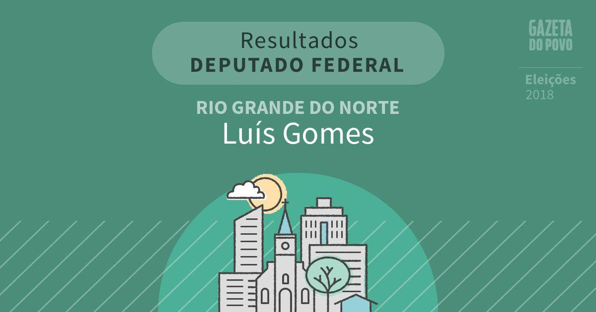 Resultados para Deputado Federal no Rio Grande do Norte em Luís Gomes (RN)