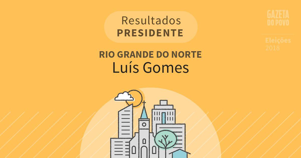 Resultados para Presidente no Rio Grande do Norte em Luís Gomes (RN)