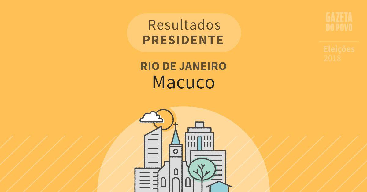 Resultados para Presidente no Rio de Janeiro em Macuco (RJ)