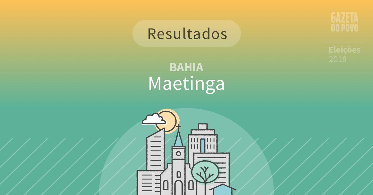 Resultados da votação em Maetinga (BA)