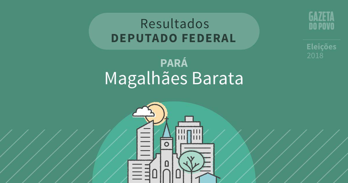 Resultados para Deputado Federal no Pará em Magalhães Barata (PA)