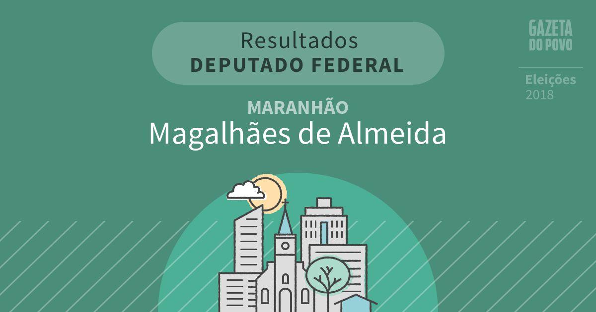 Resultados para Deputado Federal no Maranhão em Magalhães de Almeida (MA)