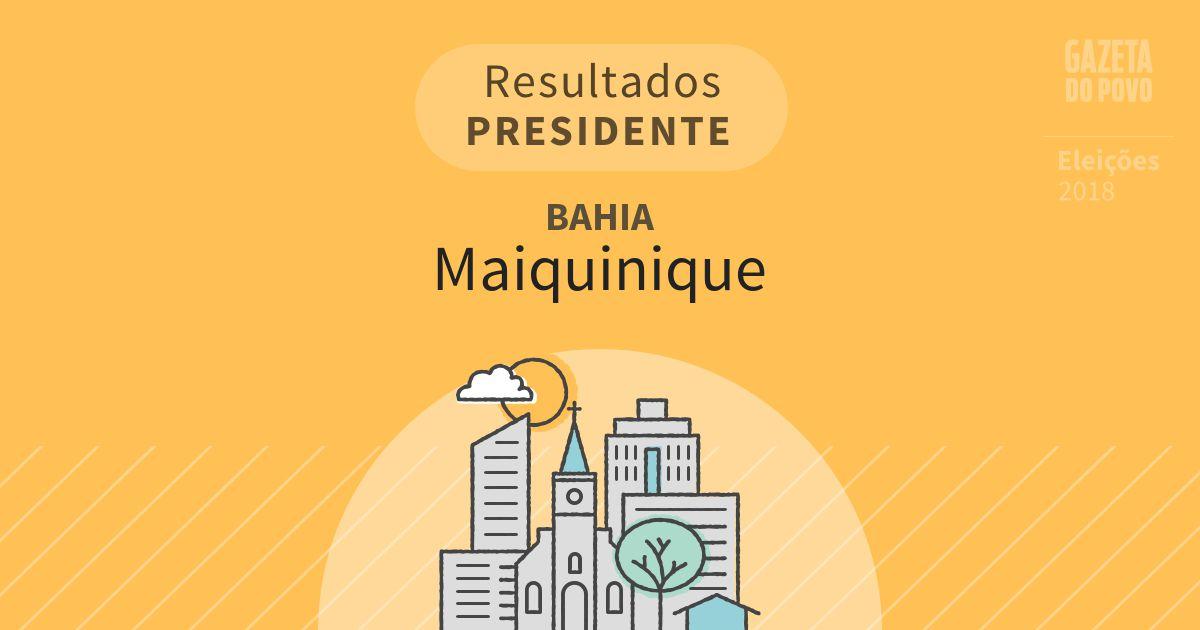 Resultados para Presidente na Bahia em Maiquinique (BA)