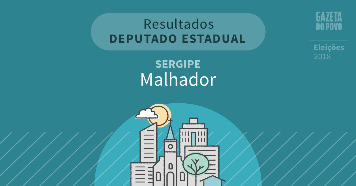 Resultados para Deputado Estadual no Sergipe em Malhador (SE)