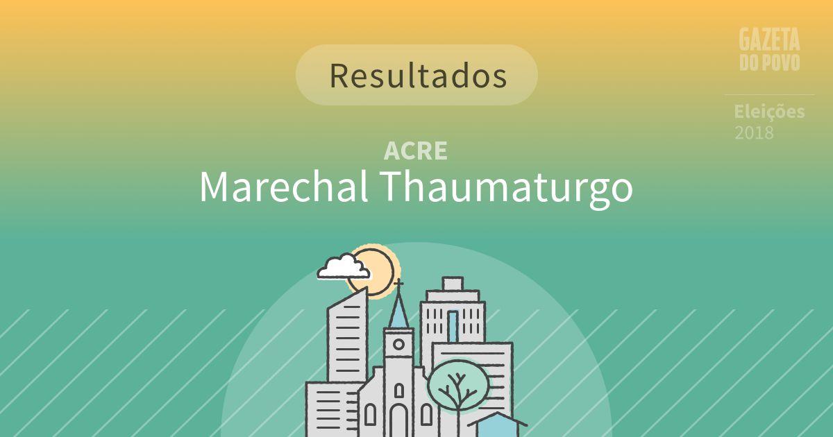 Resultados da votação em Marechal Thaumaturgo (AC)