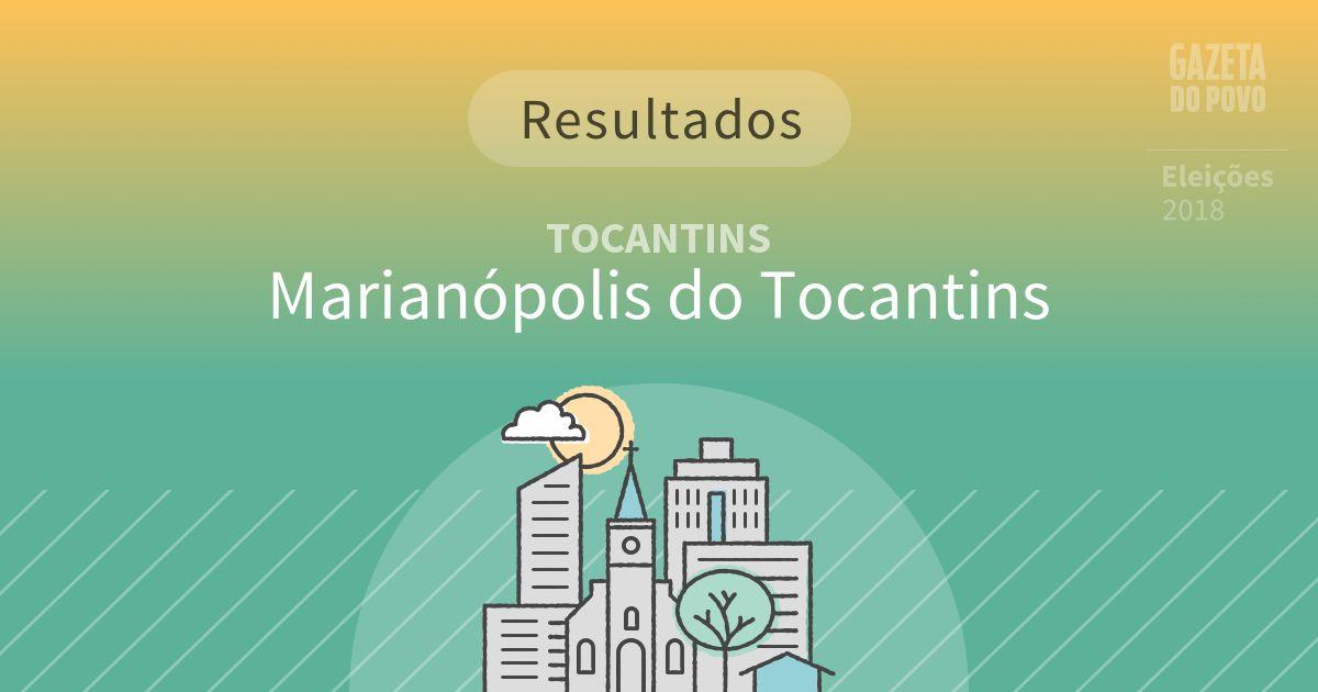 Resultados da votação em Marianópolis do Tocantins (TO)