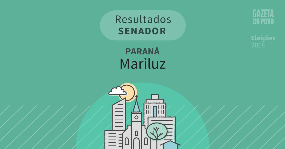Resultados para Senador no Paraná em Mariluz (PR)