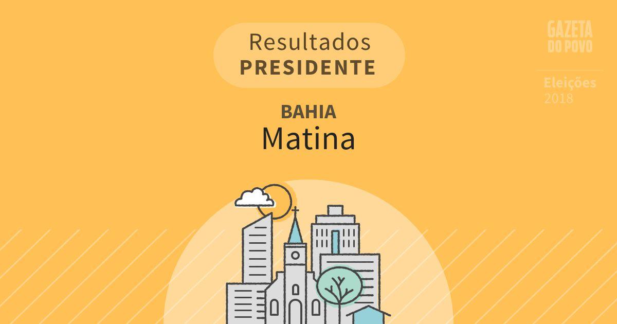 Resultados para Presidente na Bahia em Matina (BA)