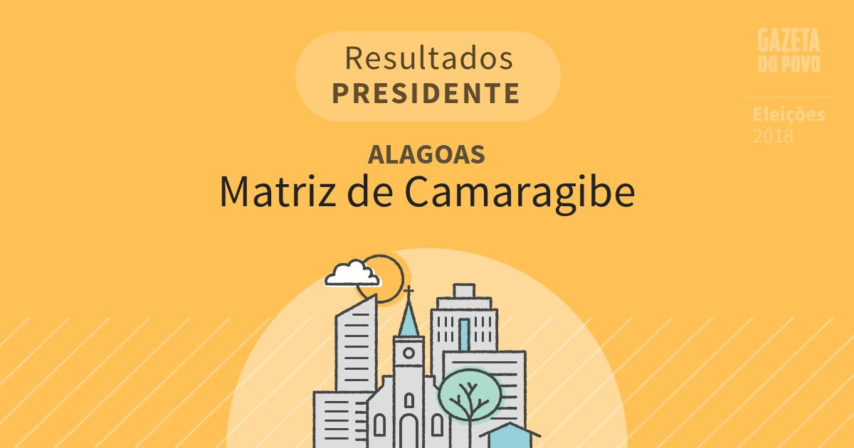 Resultados para Presidente em Alagoas em Matriz de Camaragibe (AL)