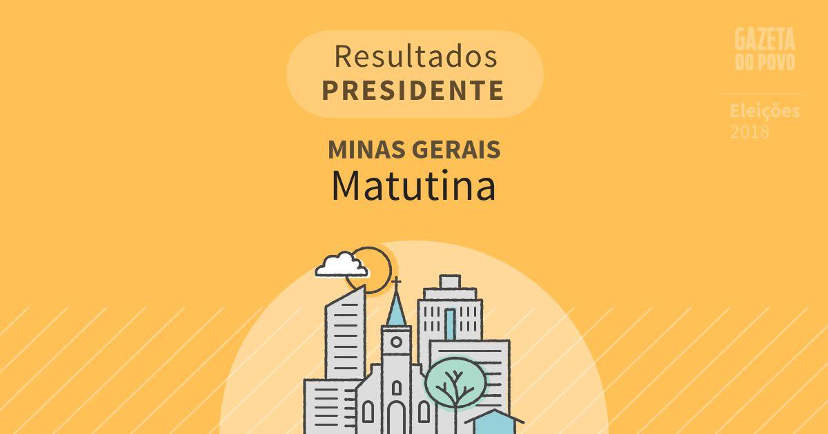 Resultados para Presidente em Minas Gerais em Matutina (MG)