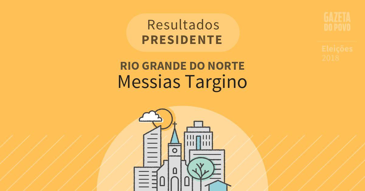 Resultados para Presidente no Rio Grande do Norte em Messias Targino (RN)