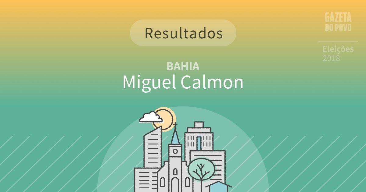 Resultados da votação em Miguel Calmon (BA)