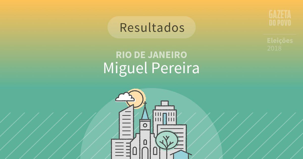 Resultados da votação em Miguel Pereira (RJ)