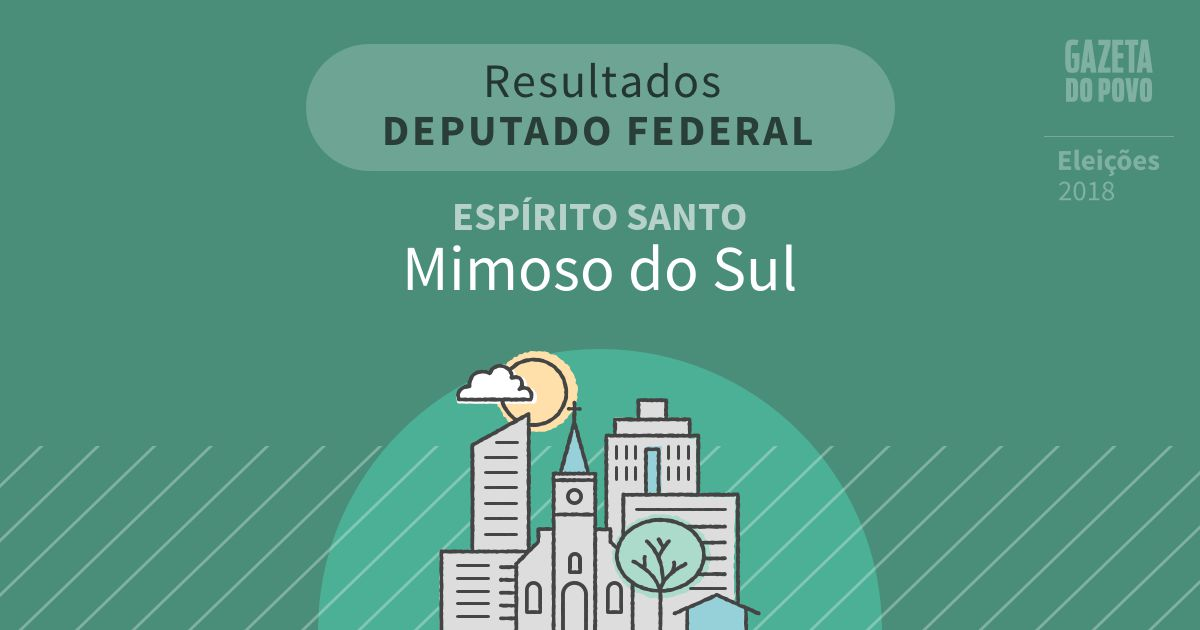 Resultados para Deputado Federal no Espírito Santo em Mimoso do Sul (ES)