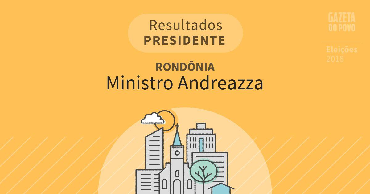 Resultados para Presidente em Rondônia em Ministro Andreazza (RO)