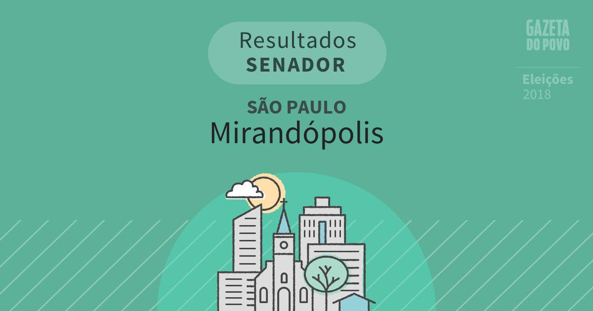 Resultados para Senador em São Paulo em Mirandópolis (SP)