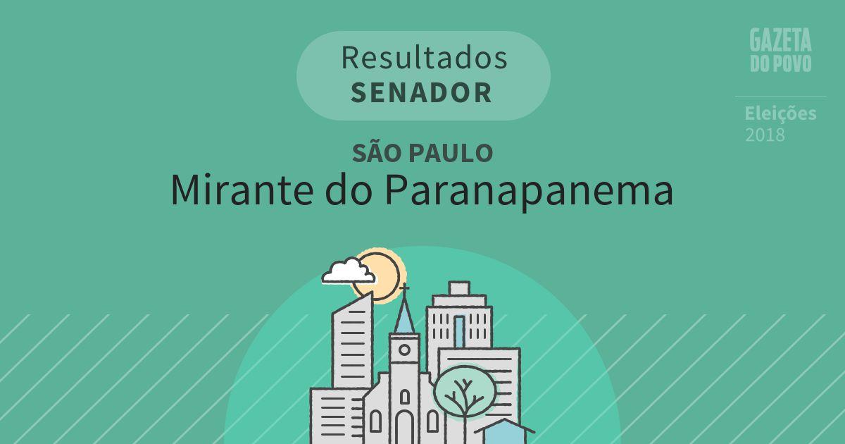 Resultados para Senador em São Paulo em Mirante do Paranapanema (SP)