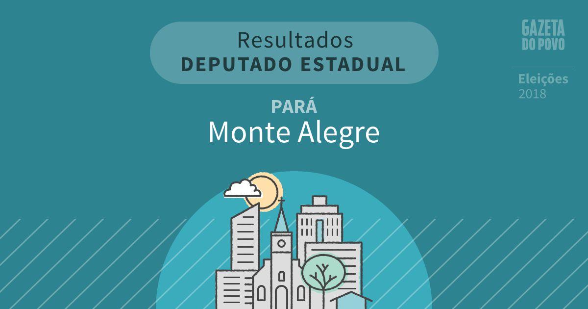Resultados para Deputado Estadual no Pará em Monte Alegre (PA)