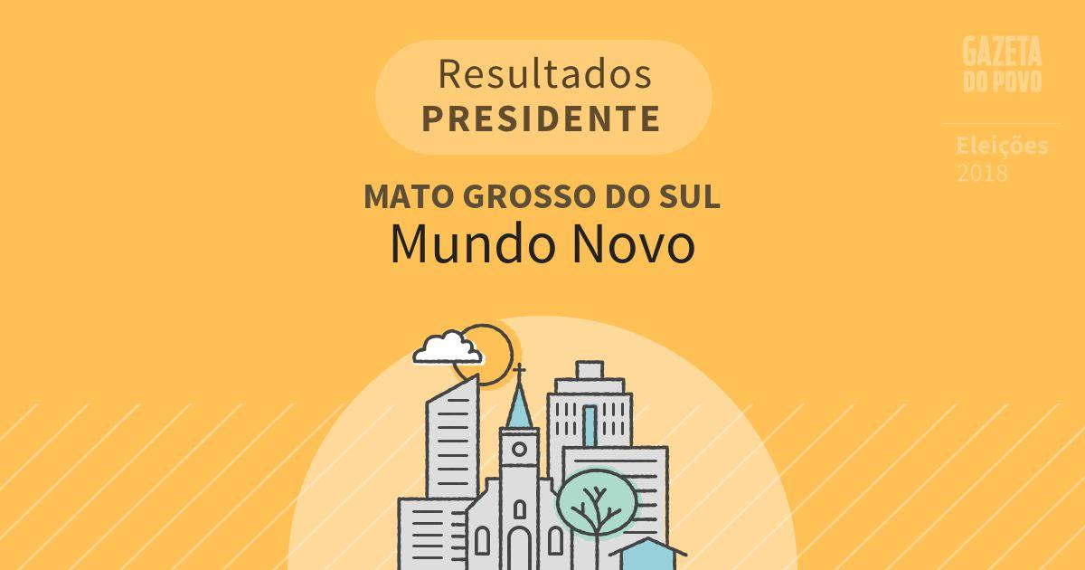 Resultados para Presidente no Mato Grosso do Sul em Mundo Novo (MS)