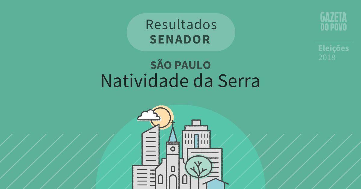 Resultados para Senador em São Paulo em Natividade da Serra (SP)