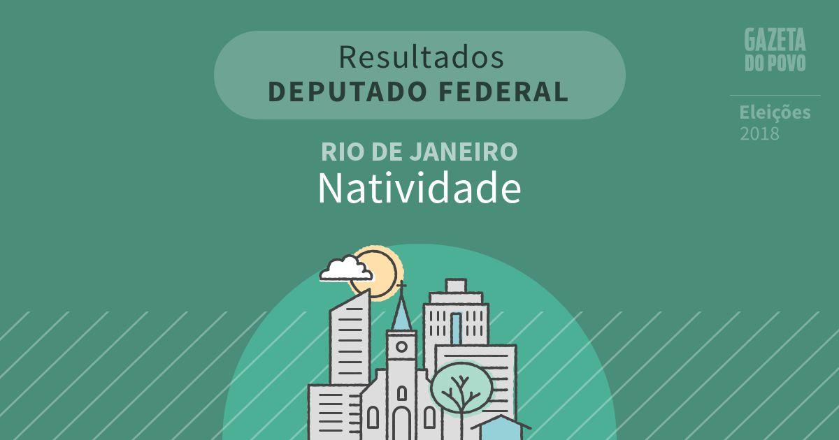 Resultados para Deputado Federal no Rio de Janeiro em Natividade (RJ)