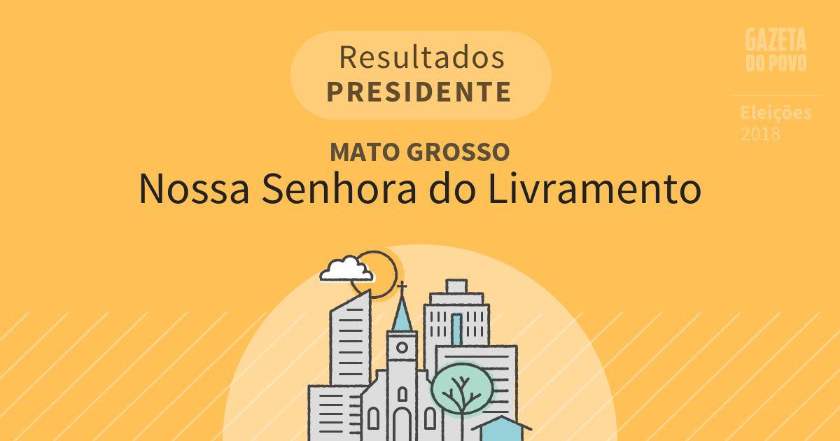 Resultados para Presidente no Mato Grosso em Nossa Senhora do Livramento (MT)