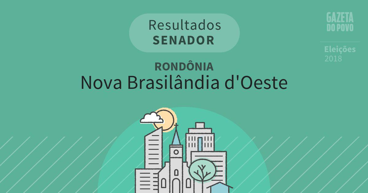 Resultados para Senador em Rondônia em Nova Brasilândia d'Oeste (RO)