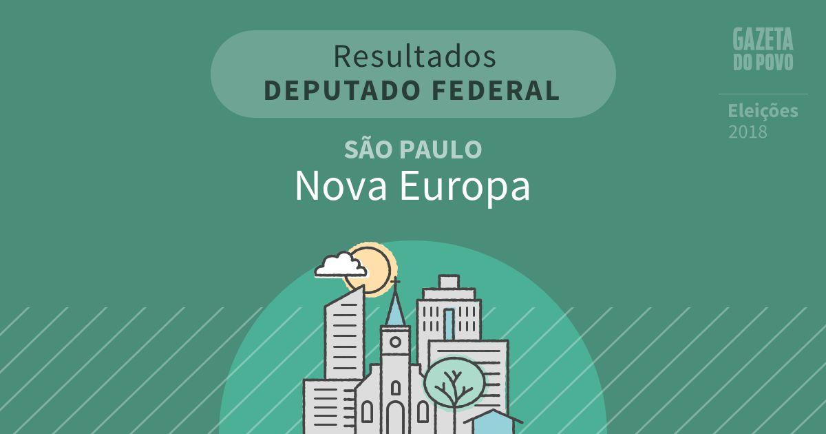 Resultados para Deputado Federal em São Paulo em Nova Europa (SP)