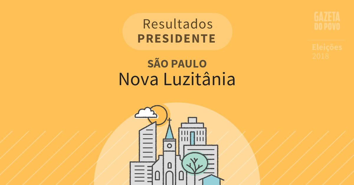 Resultados para Presidente em São Paulo em Nova Luzitânia (SP)