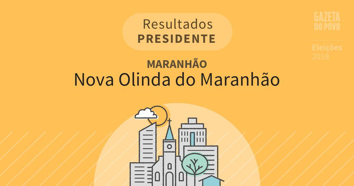 Resultados para Presidente no Maranhão em Nova Olinda do Maranhão (MA)