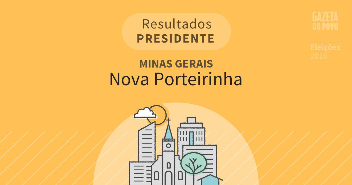 Resultados para Presidente em Minas Gerais em Nova Porteirinha (MG)