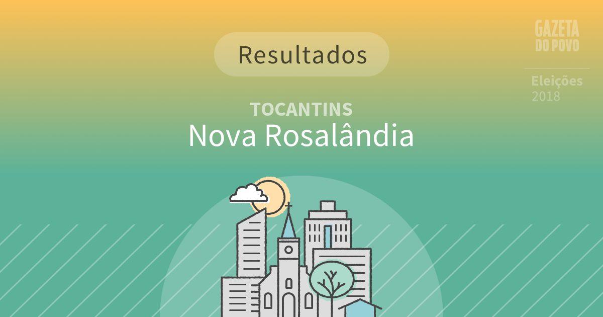 Resultados da votação em Nova Rosalândia (TO)