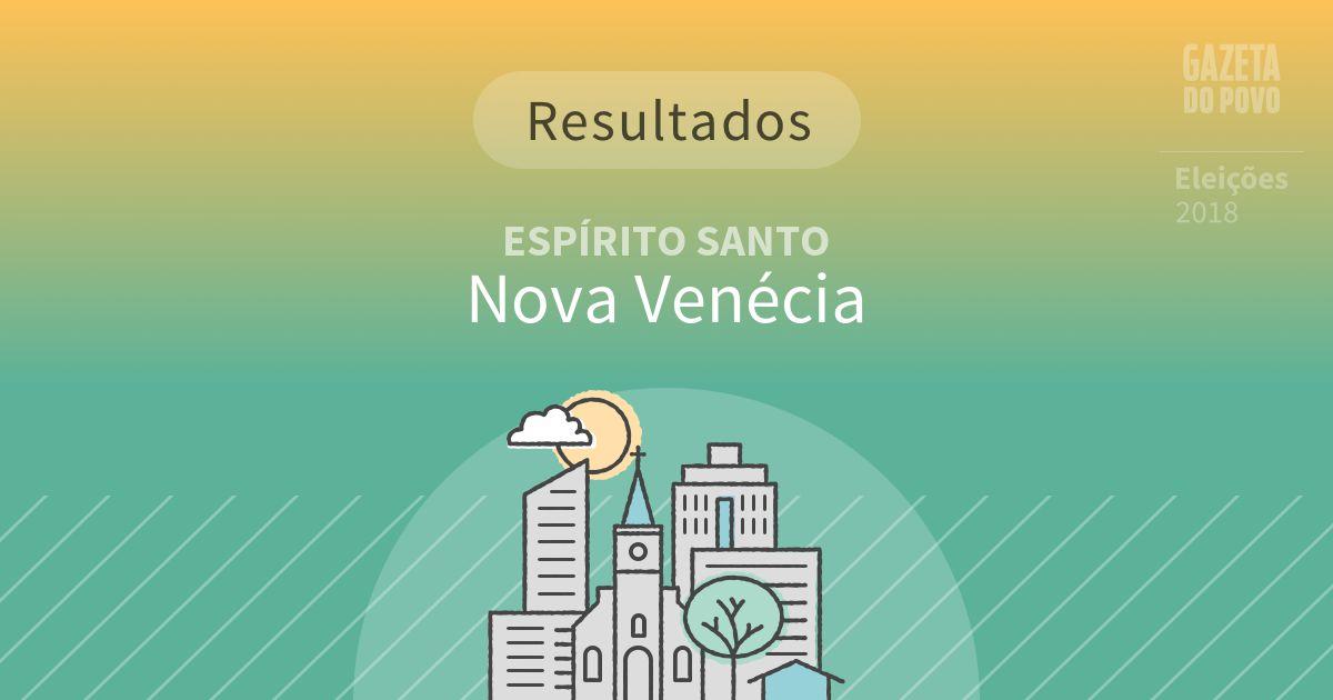 Resultados da votação em Nova Venécia (ES)