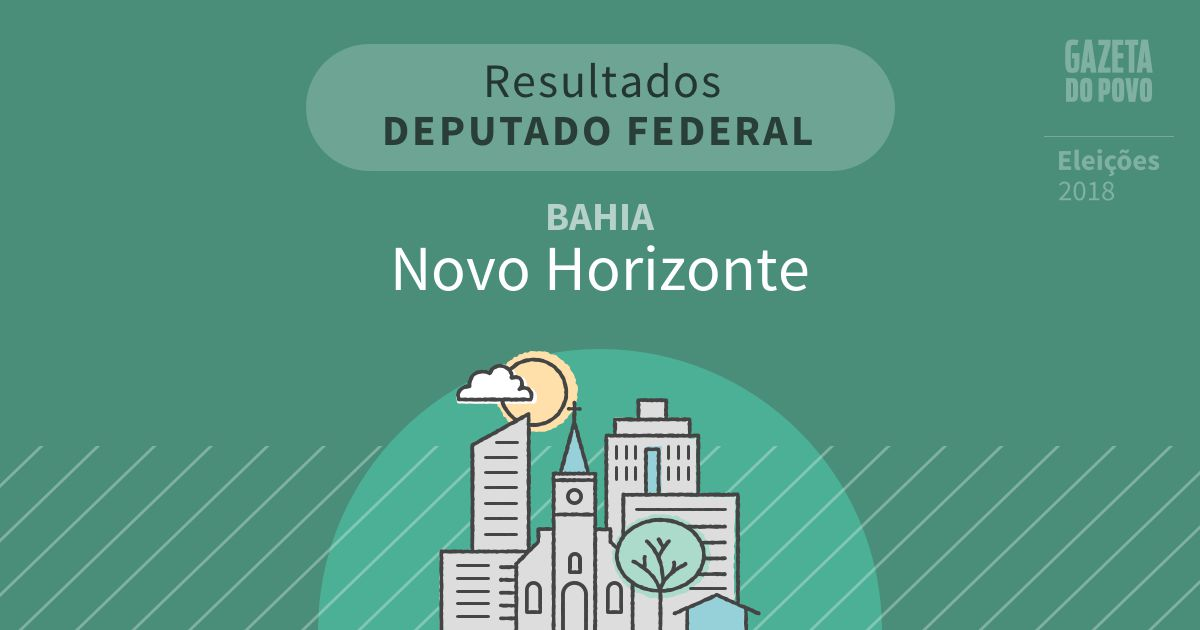 Resultados para Deputado Federal na Bahia em Novo Horizonte (BA)