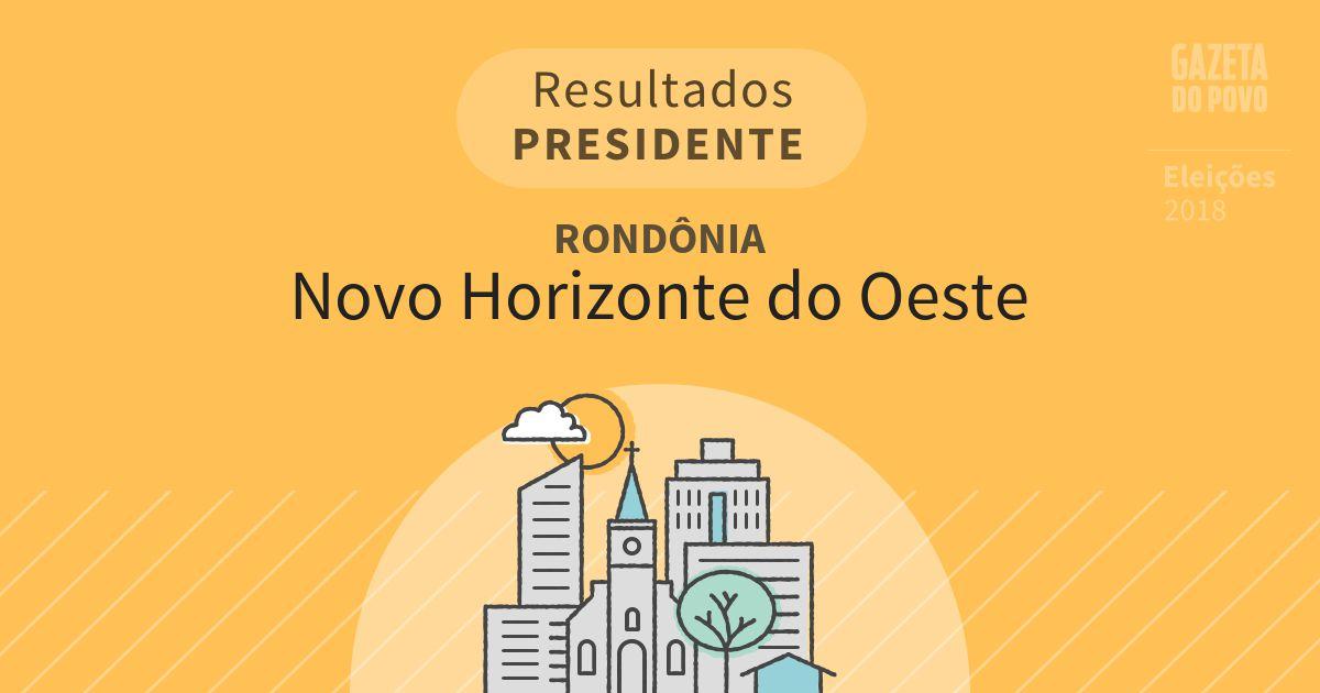 Resultados para Presidente em Rondônia em Novo Horizonte do Oeste (RO)